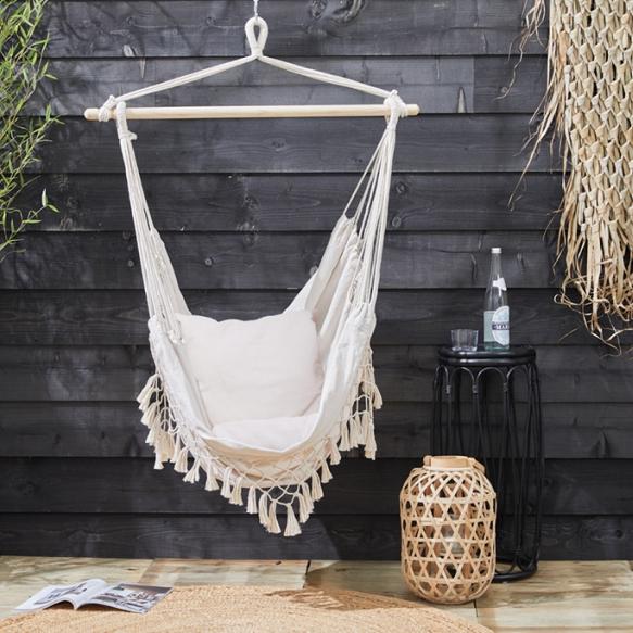 Ibiza style hangstoel