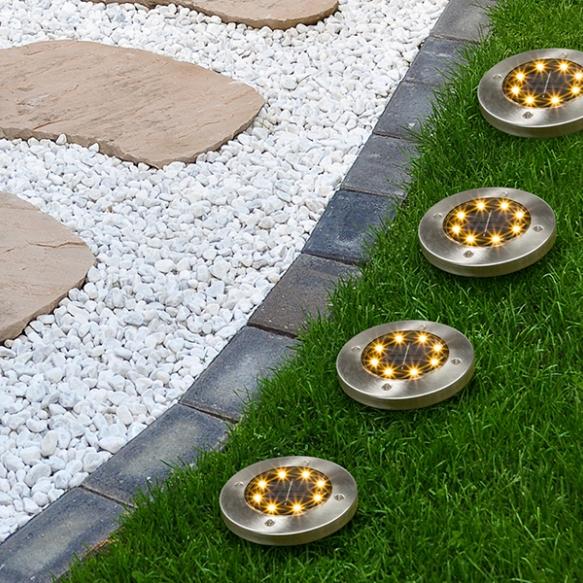 Set van 4 solar vloerlampen
